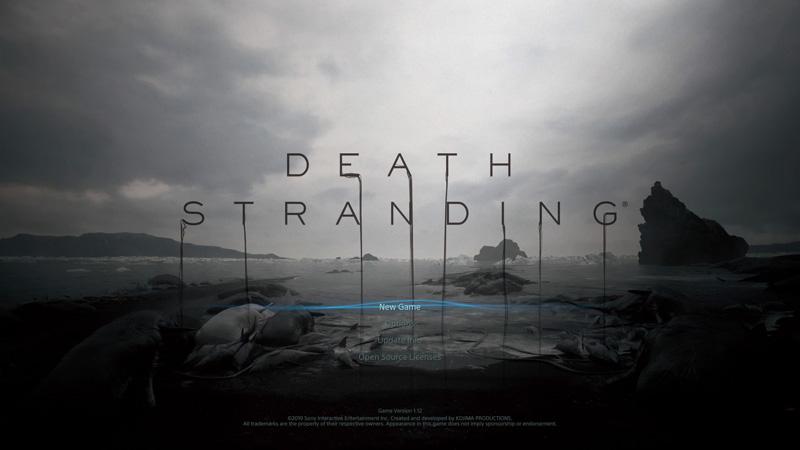 「デス・ストランディング」タイトル画面