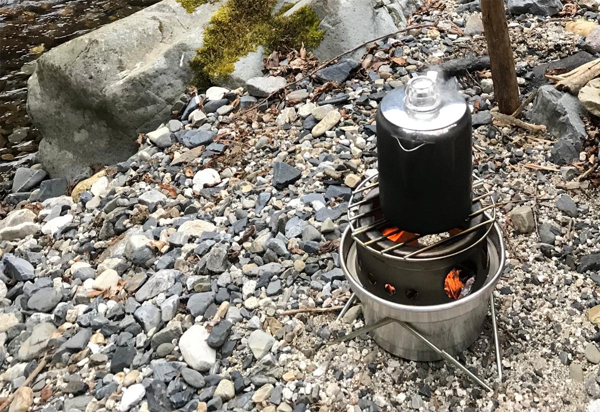 ギリーケトルHobo stoveとパーコレーター