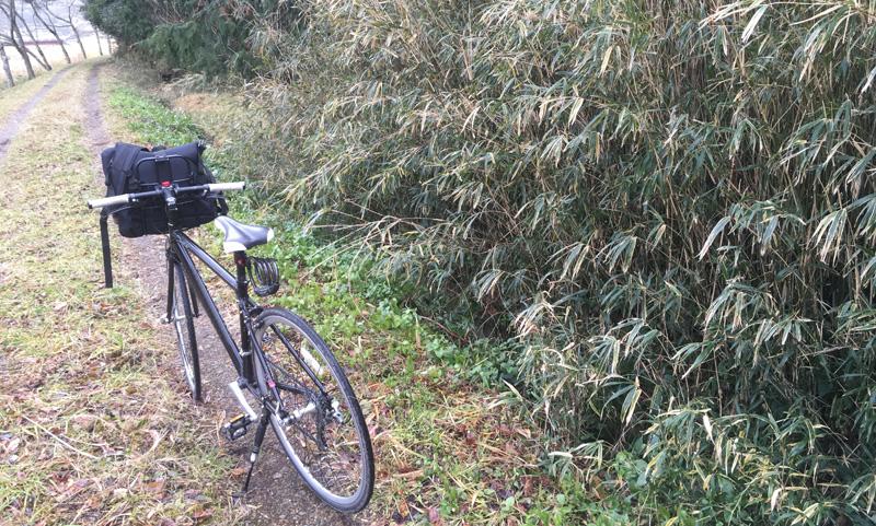 出猟時に使用した自転車