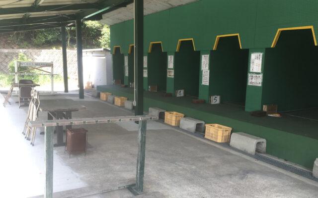 大阪総合射撃場 ライフル射台