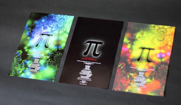 『π』3種類のチラシ
