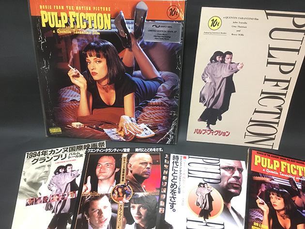 『パルプ・フィクション』のレコード、パンフレット、チラシ、シナリオブック(英語)