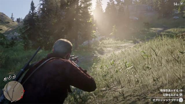「Red Dead Redemption 2」狩猟中