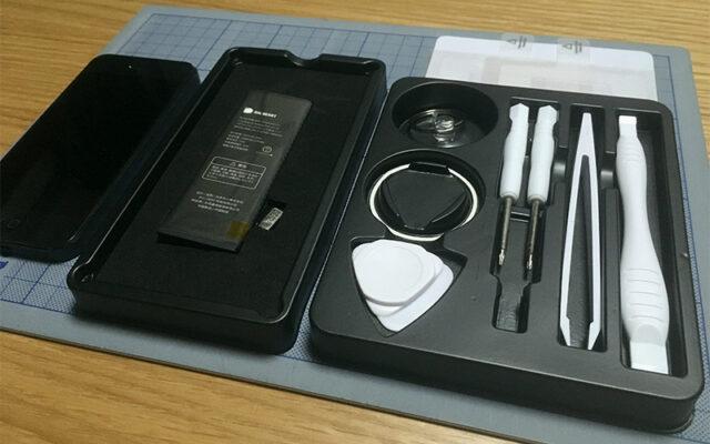 「BIGHEART iPhone5 交換用 PSEバッテリー」とiPhone 5