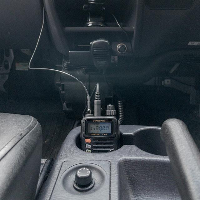 車で使う時のVX-6