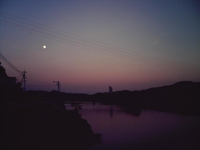 仁淀川の夕日1