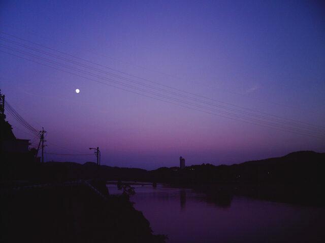 仁淀川の夕日2